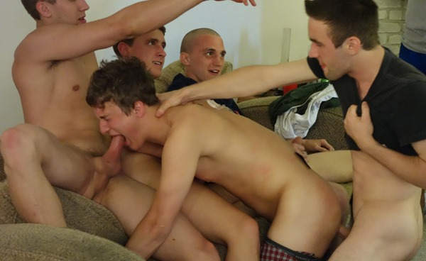 frat boys gang bang